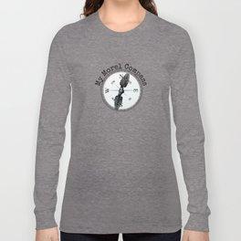 Morel Compass Mushroom Humor for Mycologists Long Sleeve T-shirt