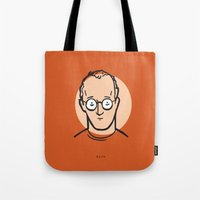 keith haring Tote Bags featuring Keith Haring by Michael Constantine