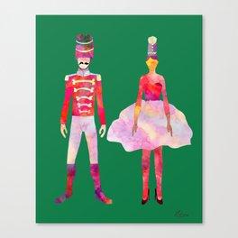Nutcracker Ballet - Candy Cane Green Canvas Print