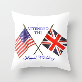 Royal Wedding Throw Pillow