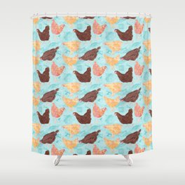 A Gaggle of Hens Shower Curtain