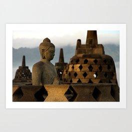 Buddha & Stupa Art Print