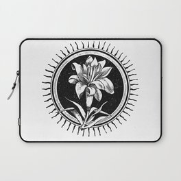 White flower Flor blanca Laptop Sleeve