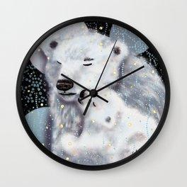 Mom and Baby // Winter polar bears  Wall Clock