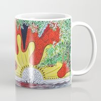 hawaii Mugs featuring Hawaii by Laura Hol Art