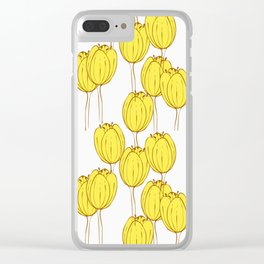 Golden tulips Clear iPhone Case