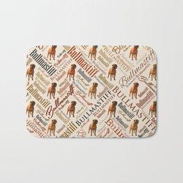 Bullmastiff Word Art Bath Mat