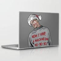 die hard Laptop & iPad Skins featuring Tony (The Dead Guy In The Elevator In Die Hard) by CRUDE