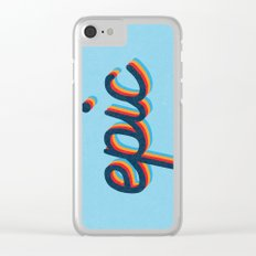 Epic - blue version Clear iPhone Case