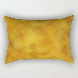 Yellow orange batic look. Rectangular Pillow