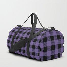 Ultra Violet Buffalo Plaid Duffle Bag