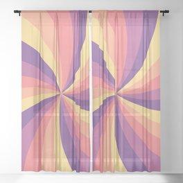 Candy Swirl Sheer Curtain