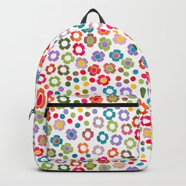 dp065-9 floral pattern Backpack