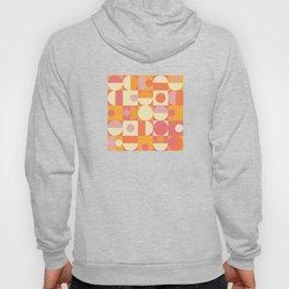 Thoroughly Modern Pink And Orange Geometric Design Hoody