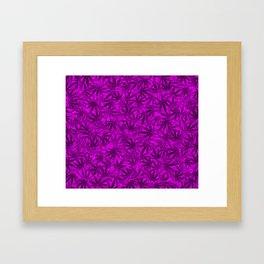 Marijuana leaves (purple) Framed Art Print