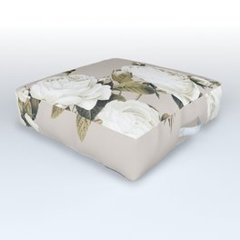 Minimal Whiterose Outdoor Floor Cushion
