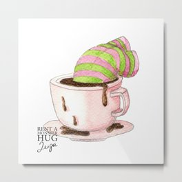 All you need is hug... and more coffee! Metal Print