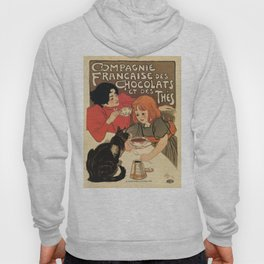 Vintage French tea and hot cocoa advertising Hoody