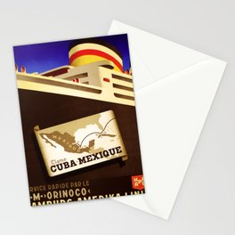 retro iconic Cuba Mexique poster Stationery Cards