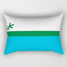 Labrador Flag Square Rectangular Pillow