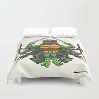 tmnt Duvet Covers featuring TMNT by Artifact Supply