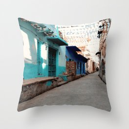 Streets of India. Throw Pillow