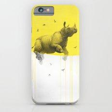 rinhoceros on yellow iPhone 6s Slim Case