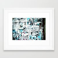 posters Framed Art Prints featuring posters by Renee Ansell