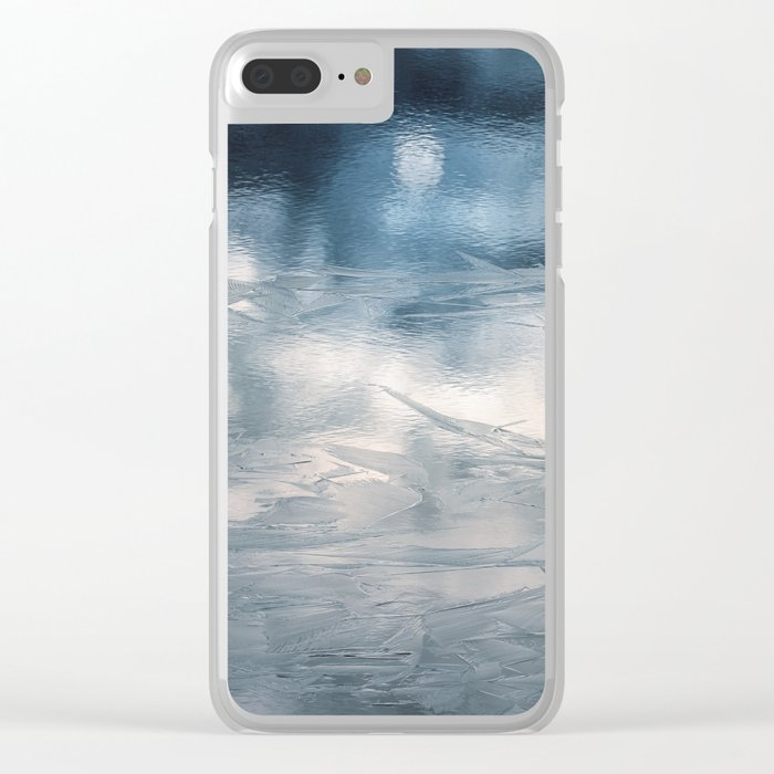 Lake Ice Blue Clear iPhone Case