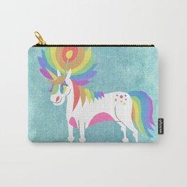 Rainbow Petal Unicorn Carry-All Pouch