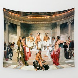 Hemicycle of the Ecole des Beaux, 1814 by Paul Delaroche Wall Tapestry