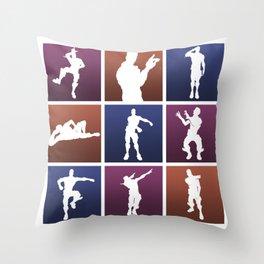 Emotes for everyone! Throw Pillow