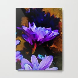Still Life with a Lavender and Cobalt Blue Flower Metal Print