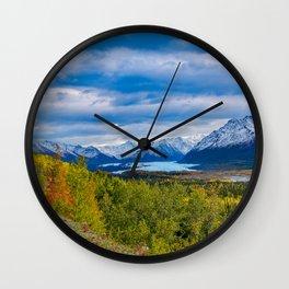 Matanuska Glacier, Alaska - Autumn Wall Clock