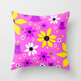 Wonderful Whimsical Spring Throw Pillow