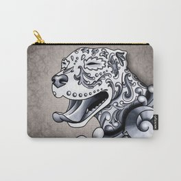 Ornamental Pit Bull - Black and Grey Filigree Pitbull Carry-All Pouch