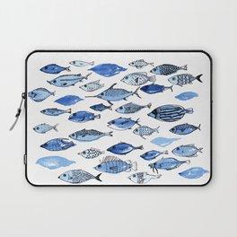Aquarium blue fishes Laptop Sleeve