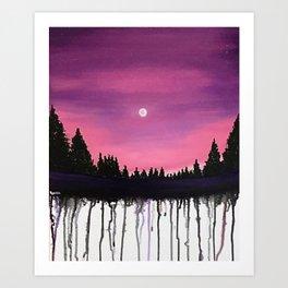 Lush Moon Art Print