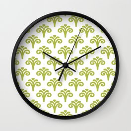 Floral Pattern Chartreuse 241 Wall Clock