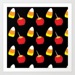 Candy Corn and Candy Apples Art Print
