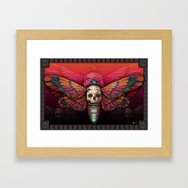 """Death colored moth"" Framed Art Print"
