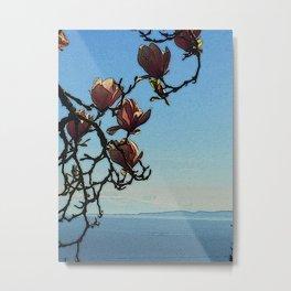 Magnolia Sea View Metal Print