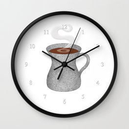 cement mixer hipster mug - coffee cup series Wall Clock