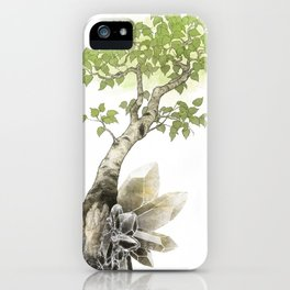 Birch Tree and Howlite Crystals iPhone Case