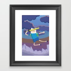 Finn the Human is gonna KICK YOUR BUTT! Framed Art Print