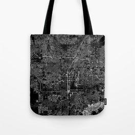 Las Vegas Black Map Tote Bag