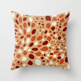 Mosaic Dots: Coral Island Throw Pillow