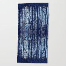 Denim Designs Winter Woods Beach Towel