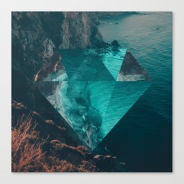 The Sea's Diamond Canvas Print