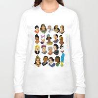 women Long Sleeve T-shirts featuring Women by Anette Moi